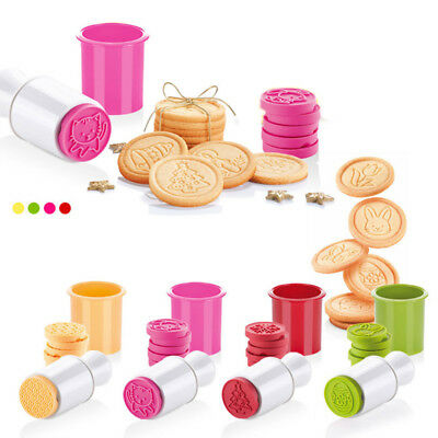 6Pcs Silicone Stamp Press Cookie Cutter Molds Chrismas Theme Biscuit Mould HOT