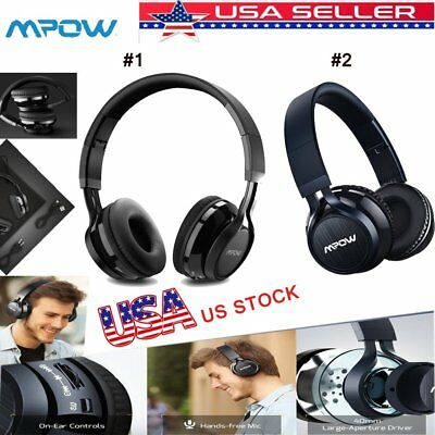 Mpow Wireless Headphones Bluetooth Headset Foldable Noise Cancelling Over Ear US