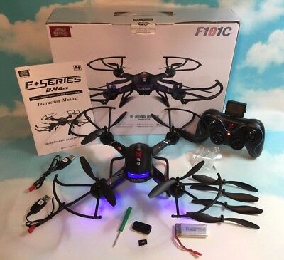 Holy Stone F181C Quadcopter HD Camera Altitude Hold Headless Mode 2 Batteries