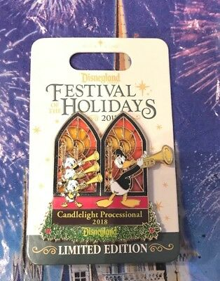 Disneyland Festival Holidays 2018 CANDLELIGHT PROCESSIONAL Donald Duck LE Pin