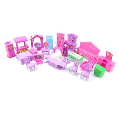 Plastic Furniture Doll House Family Christmas Xmas Toy Set for Kids Children TEU
