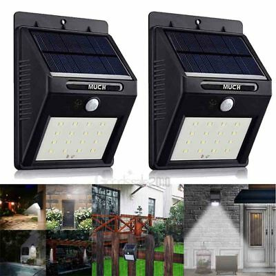 2Pack Solar Motion Sensor Wall Light Outdoor Waterproof Garden Yard Lamp 16 LED