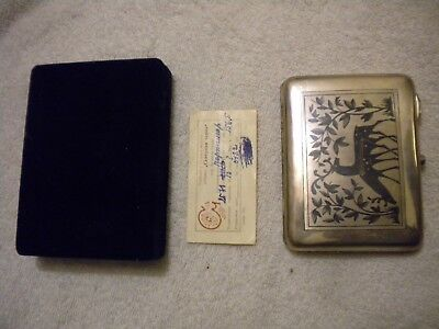 Russian .875 Sterling Silver 156 Gram Cigarette Case new w tag 875 СЧ7 marked !