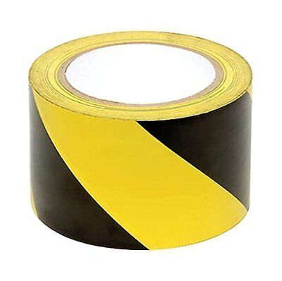 Hazard Warning Safety Stripe Tape Ideal for Walls, Floors, shelf, Posts, New