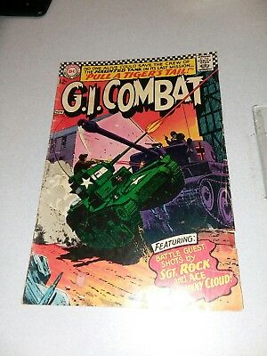 G.i Combat #120 Dc War Comics 1966 Silver Age Sgt Rock Johnny Cloud Haunted Tank