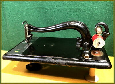 RARE~ ANTIQUE GROVER & BAKER ~LONG BED~ SEWING MACHINE ~PARTS -or-FIX
