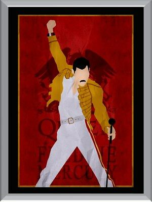 Queen - Freddie Mercury Art A1 To A4 Size Poster Prints