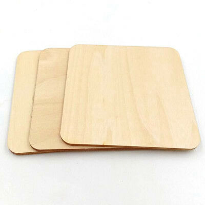 12X 10CM Squares Wooden Cup Coaster Craft Shapes Blanks Engraved
