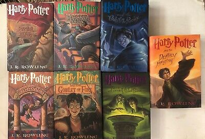 HARRY POTTER Complete Hardcover Book Set 1-7 Rowling 1st American Edition - VG