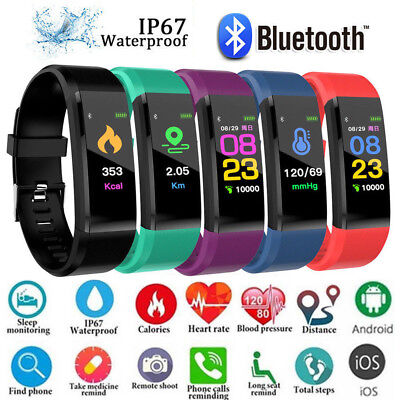 Montre Bracelet Sport Connectée Intelligente Etanche Podomètre Fitness Tracker