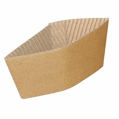 12oz Kraft Paper Sleeves For Single Walled Paper Cups 700 Sleeves