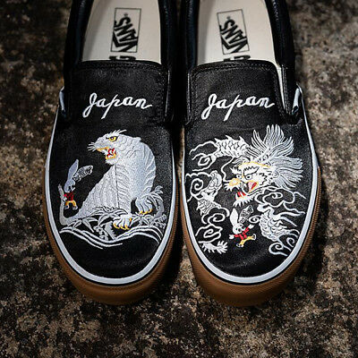 64c1e6bc529fab Rollicking x Vans Slip-On Black Skajum 2018 Dragon Tiger Souvenir ASIA  EXCLUSIVE