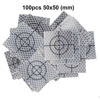 100pcs Reflector Sheet 50 x 50 mm Reflective tape target retro for total station