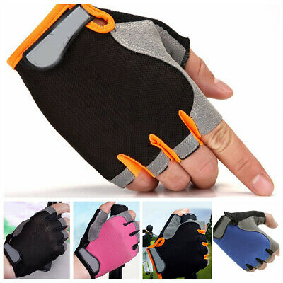 Men Women's Sports Cycling Fitness GYM Workout Exercise Half Finger Gloves