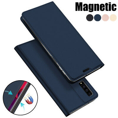 For Samsung Galaxy A9 A8 A7 2018 S9+ Magnetic Wallet Card Holder Flip Case Cover