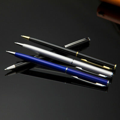 Stainless Steel Ballpoint Pen Office Ball Point Writing Pen Student Stationery.