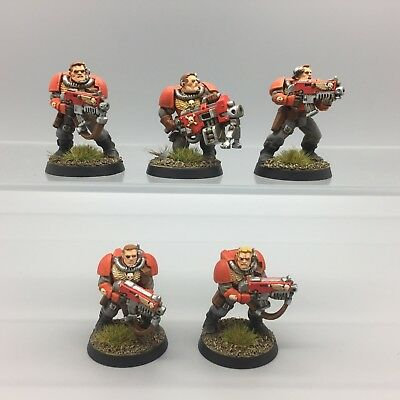 Warhammer 40,000 Space Marines Blood Angels Scouts Bolters Painted Kill Team