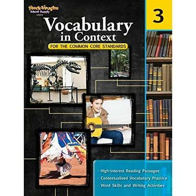 Vocabulary in Context for the Common Core Standards, Gr - Paperback NEW Steck-Va