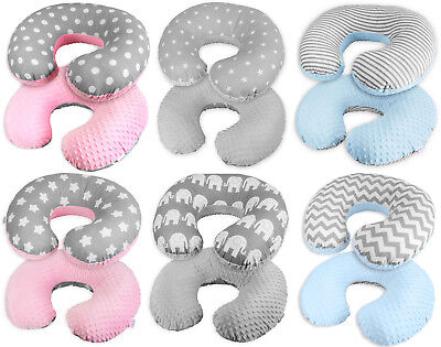 Baby Feeding Pillow Dimple Nursing Breastfeeding Pregnancy Pillow + Cover