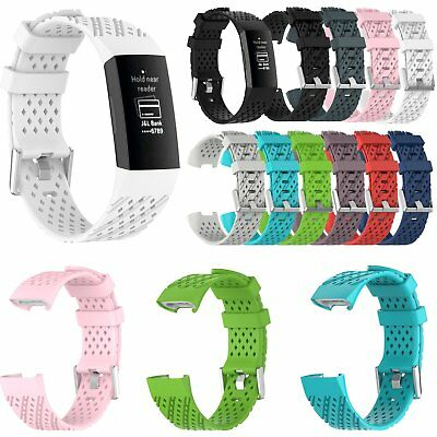 Silicone Watch Band Wristband Bracelet Replace Strap for Fitbit charge3 Tracker