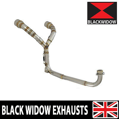MSX 125 GROM 1-2 Twin Exhaust System Downpipes & Link Pipes - no silencer