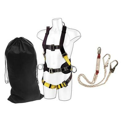 PORTWEST FP64 comfort harness with twin scaffold hook lanyard kit