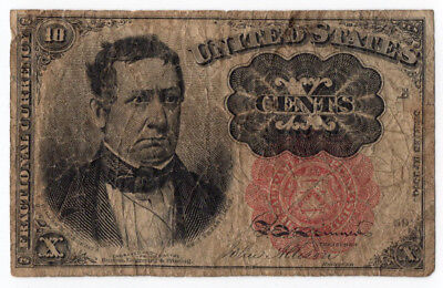 Two 10 Cent Fractional United States Currency Notes