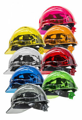 PORTWEST PV64 Peak View unvented ratchet hard hat safety helmet - all colours