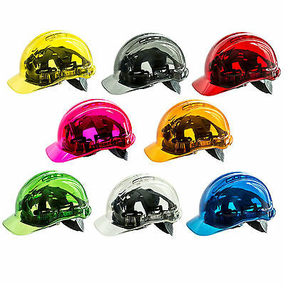 PORTWEST PV50 Peak View vented hard hat safety helmet - all colours