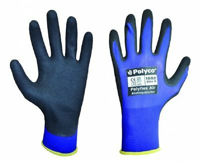 POLYCO Polyflex Air Ultra Light Close Fitting Neoprene Grip Palm Work Gloves