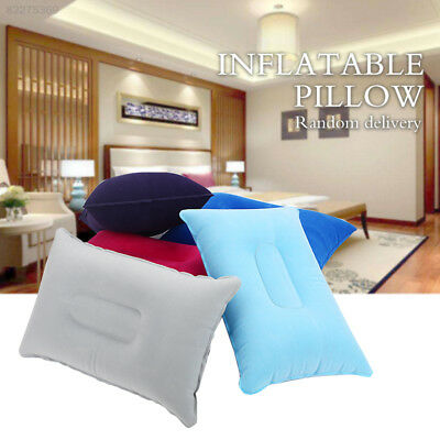 6EB5 Inflatable Pillow Pillows PVC Flocking Hotel Camping Air Cushion Portable
