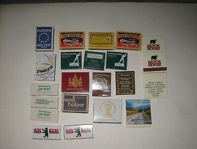 Lot of 22 Germany German Matchbooks; Mostly Boxes & Some Wood Matches;New & Used