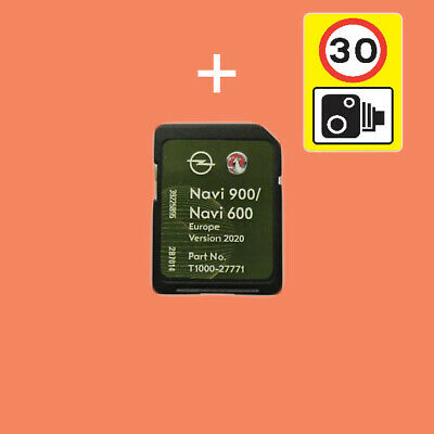 Vauxhall Chevrolet Opel Sat Nav Sd Card Navi 600 900 Gb & Ire Europe Map New