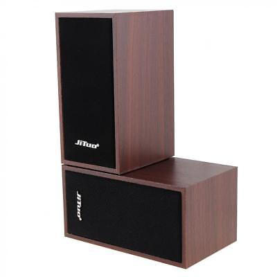 Mini USB 2.0 Wooden Speaker Portable MP3 PC Subwoofer with 3.5mm Stereo Jack