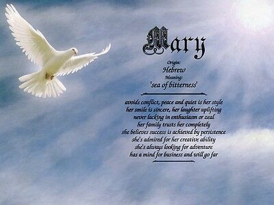 """""""Heavenly Dove"""" Name Meaning Prints Personalized (Inspirational, Christian)"""