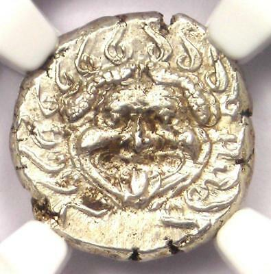 Thrace Pontica Gorgon AR Drachm Coin 400 BC - Certified NGC AU!