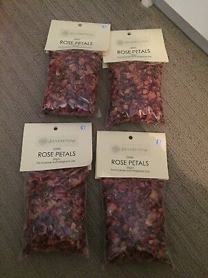 4x 20g Rose Petals - Herbal Incense Fragrance Magikal Potion Ritual Wicca Pagan