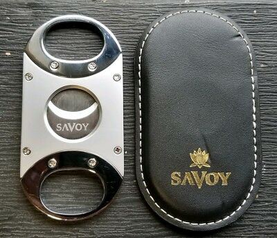 Savoy stainless Steel Cigar Cutter With Pouch