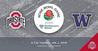 2-8 Rose Bowl Tickets Ohio State vs Washington 1/1/19 -Buckeye Club Donor Seats