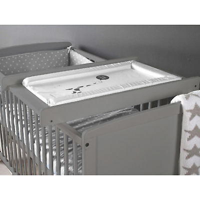 New Little Acorns Grey Wood Cot / Cotbed Top Changer Baby Changing Station