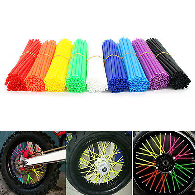 36pcs Motorcycle Dirt Bike Wheel Spoke Wraps Rims Skin Cover Guard Protector
