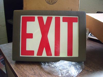 New Lithonia Emergency Systems 120/277 Exit Sign F2E P Bz 1 Rw