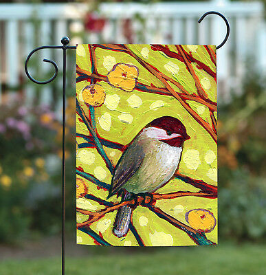 Toland Birds And Blossoms 12.5 x 18 Oriental Tree Flower Branches Garden Flag
