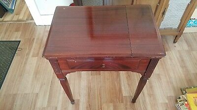 Vintage Walnut Singer Sewing Machine #40 Library Cabinet
