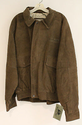Burk's Bay 1031 Suede Bomber Jacket XL NS Norfolk Southern Illinois Division new