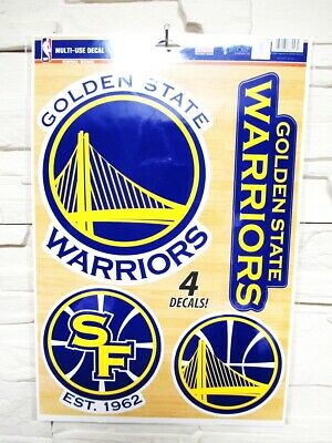 Golden State Guerrieri 4 Adesivo Decalcomania Badges Set Basket NBA