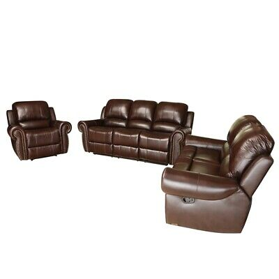 Sensational Abbyson Hogan Top Grain Leather Reclining Sofa Loveseat And Gmtry Best Dining Table And Chair Ideas Images Gmtryco