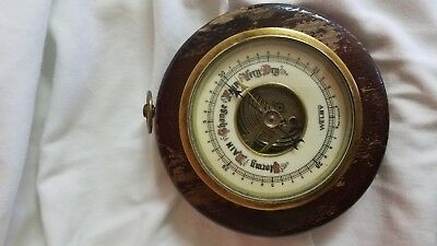Vintage White Porcelain  Face  Welby Weather Barometer Germany  Fair Stormy