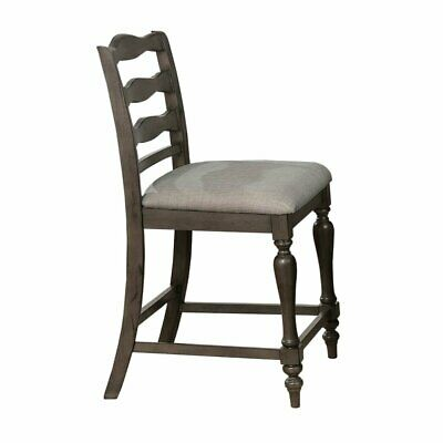 Furniture of America Wilson Rustic Pub Chair (Set of 2) in Gray