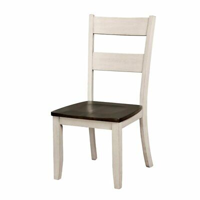 Furniture of America Gerret Side Chair (Set of 2) in Antique White
